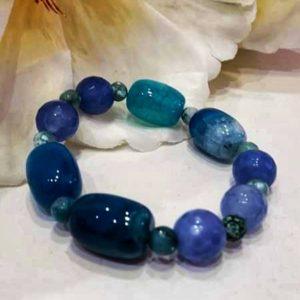 Pulsera piedra natural azul