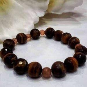 Pulsera piedra natural marrón