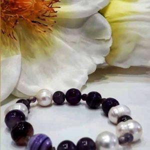 Pulsera piedra y perlas