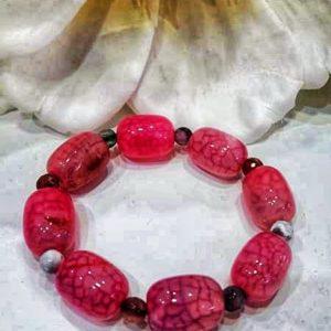 Pulsera piedra natural rosa