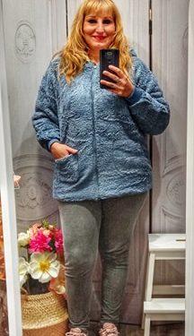 Abrigo borreguito azul