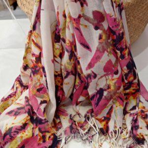Foulard seda floral