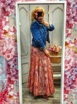 Falda boho-chic rosa