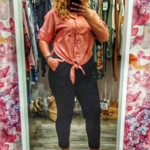 Camisa coral lazada