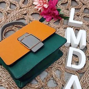 Bolso verde y mostaza