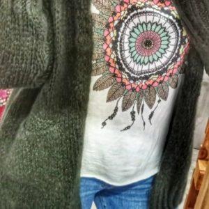 Chaqueta lana verde