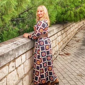Vestido Vestido mosaico
